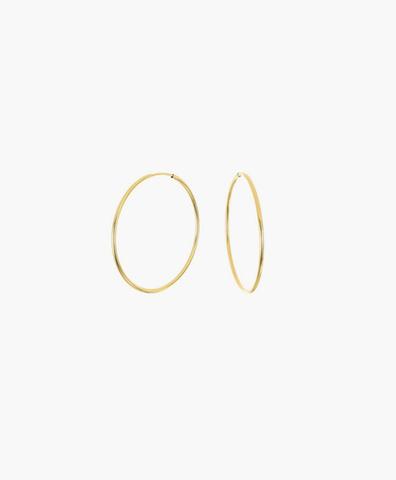 Серьги-кольца Hoops Endless gold 15 мм