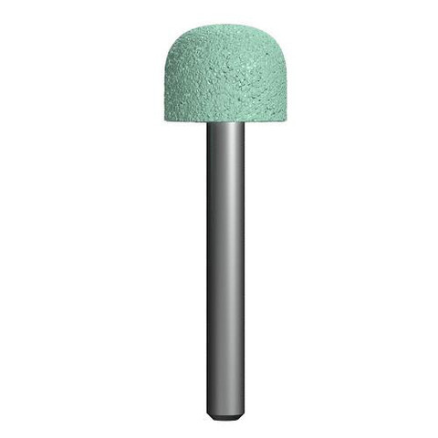 Шарошка абразивная ПРАКТИКА карбид кремния, закругленная 19х16 мм, хвост 6 мм, блистер