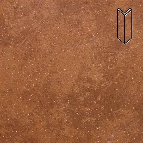 Stroeher - Keraplatte Roccia 841 rosso 157x60x60x11 артикул 9000 - Угловой клинкерный подступенок