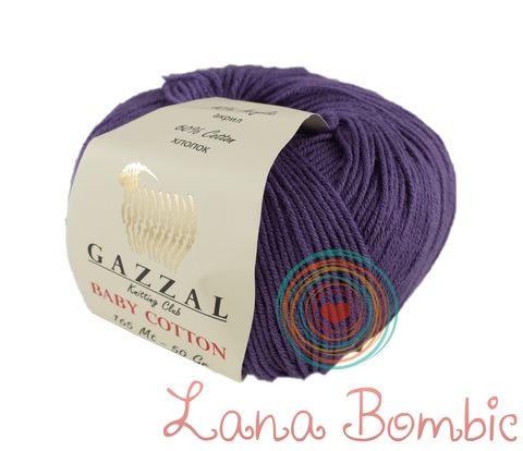 Пряжа Gazzal Baby Cotton 3440 черника
