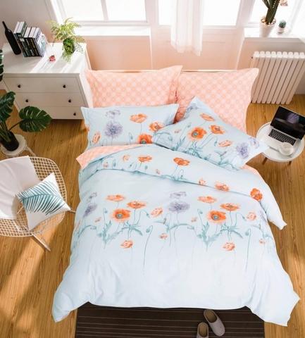 Сатиновое постельное бельё  2 спальное  В-194