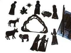 РОЖДЕСТВЕНСКИЙ набор фигурок для театра теней