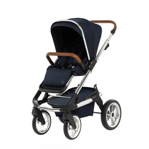 Коляска Moon Solitaire 2 в 1 Navy Chrom 2020 + Автокресло