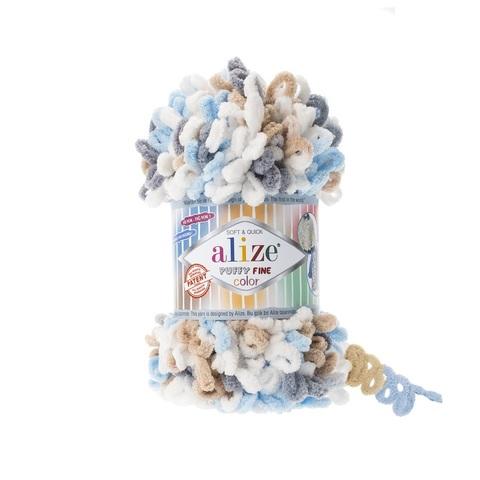 Пряжа Alize Puffy Fine Color цвет 5946