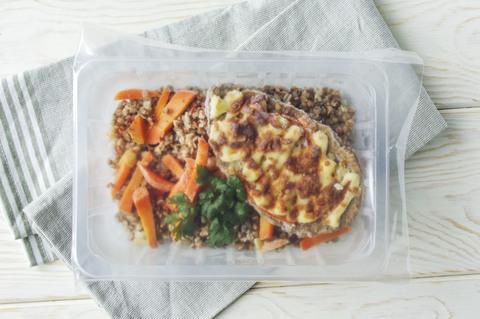 здоровая еда гречка с овощами