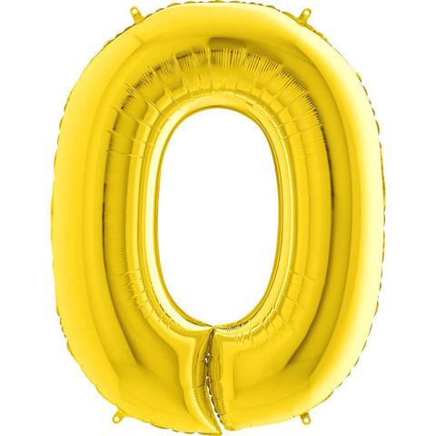 Цифра 0 (Золотая)