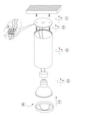 Накладной точечный светильник INL-7004D-01 Black