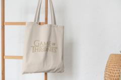 Сумка-шоппер с принтом Игра престолов (Game of Thrones) бежевая 0012