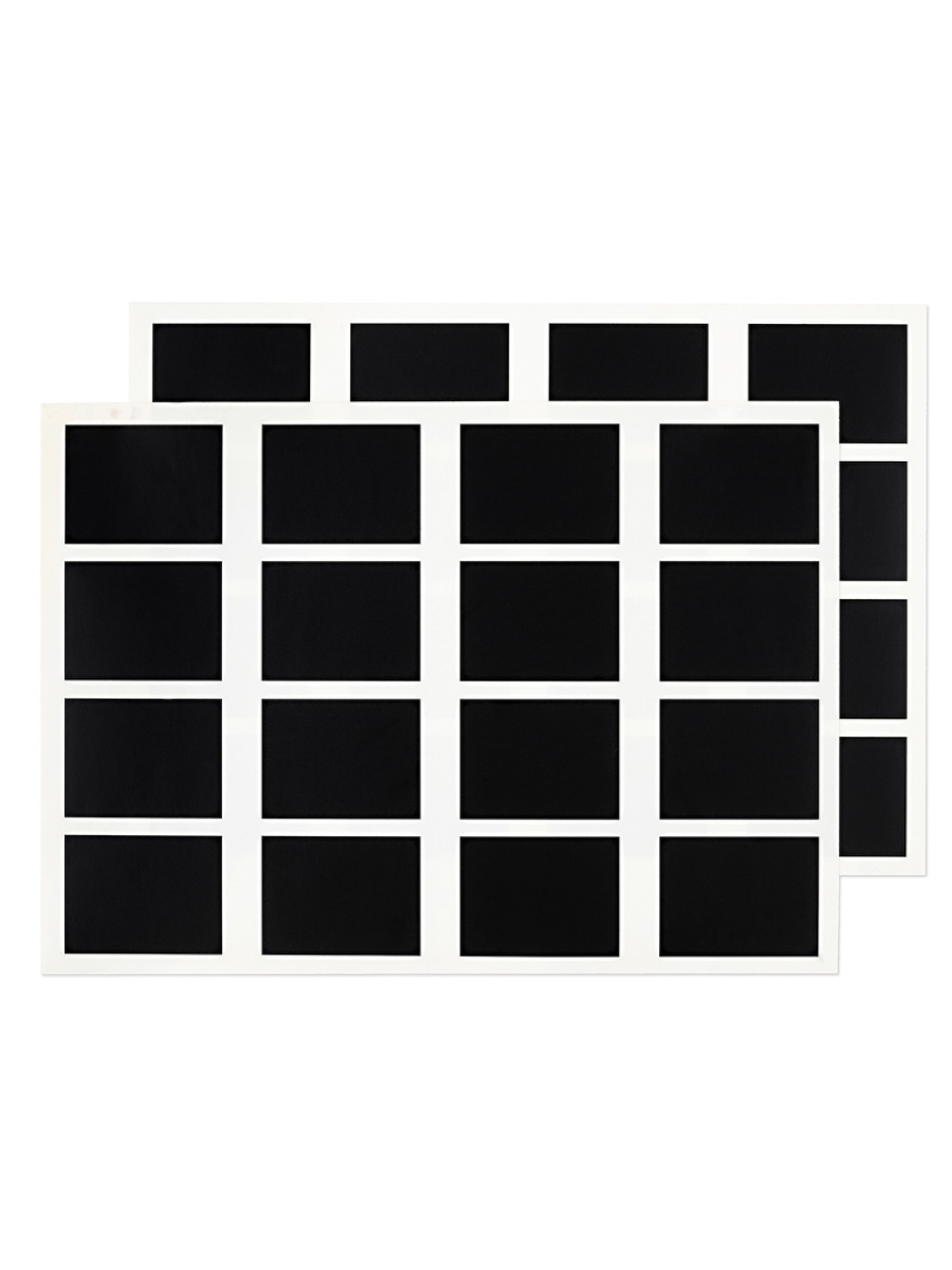 Набор наклеек 4,5х6 см, прямоугольные, 2 листа, черные