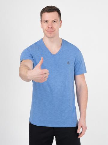 Мужская футболка «Великоросс» цвета морской волны V ворот