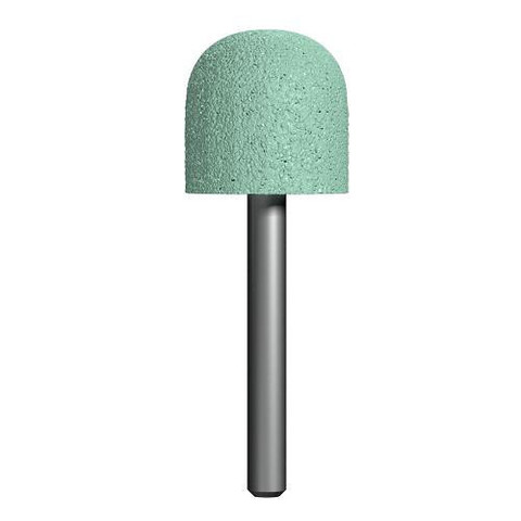 Шарошка абразивная ПРАКТИКА карбид кремния, закругленная 25х25 мм, хвост 6 мм, блистер