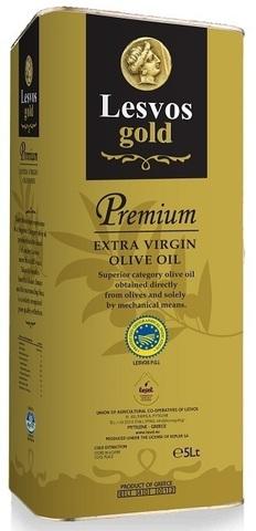 Оливковое масло первого холодного отжима Lesvos gold 5 л жесть