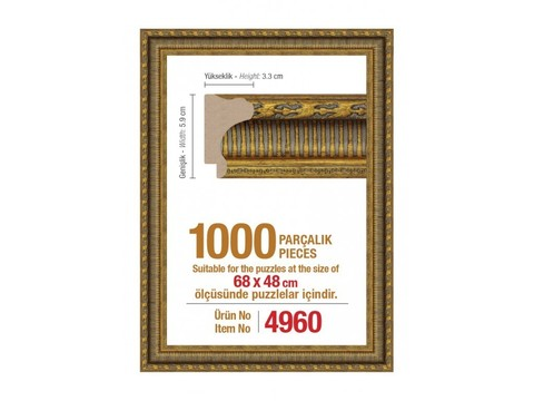 Pazl çərçivəsi (68 x 48 cm.) 4960