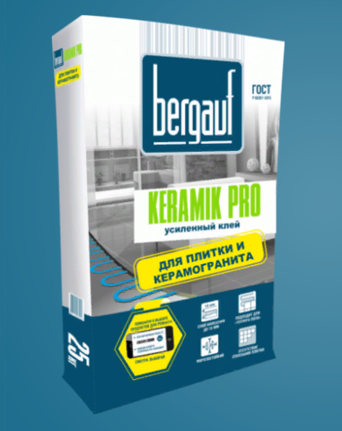 Клей для плитки Бергауф Керамик Про 25 кг