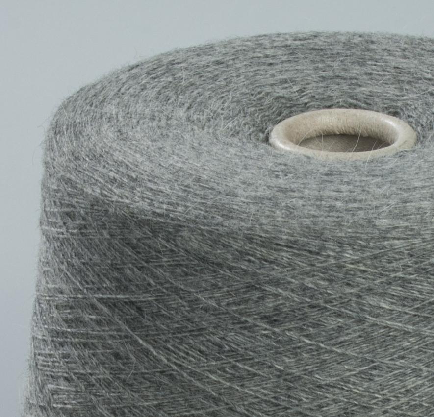 21001-Foxy, меринос с ангорой, серый меланж