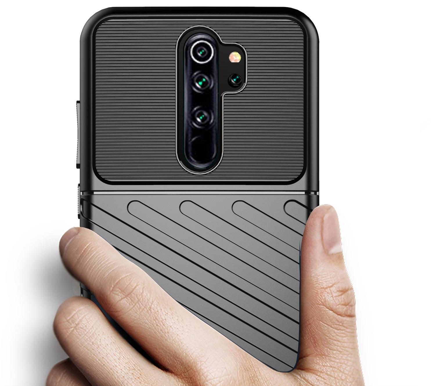Чехол для Xiaomi Redmi Note 8 Pro цвет Black (черный), серия Onyx от Caseport
