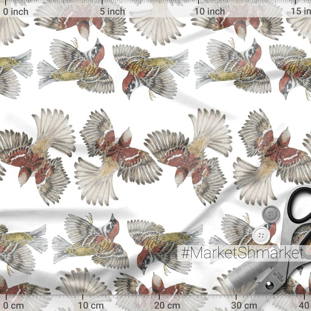 Воробьи на белом. Sparrows on white