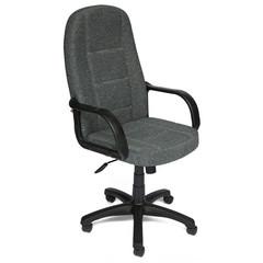 Кресло для руководителя 747 серое (ткань/пластик)