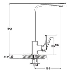Фото размеры смесителя для кухни Zegor NEF4-A232