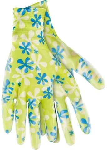Перчатки садовые L зеленые PALISAD