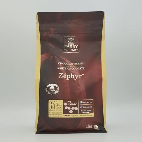 Шоколад белый Zephyr 34% BARRY CALLEBAUT, 1 кг