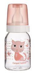Canpol babies. Бутылочка Cheerful animals антиколиковая, тритановая, 3+, 120 мл, котенок розовый