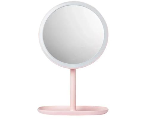 Зеркало косметическое настольное Xiaomi Jordan Judy LED Makeup Mirror (NV529) с подсветкой pink