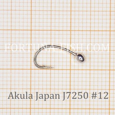 Крючок с напайкой Akula Japan J7250 Nymph с напайкой (50  шт)
