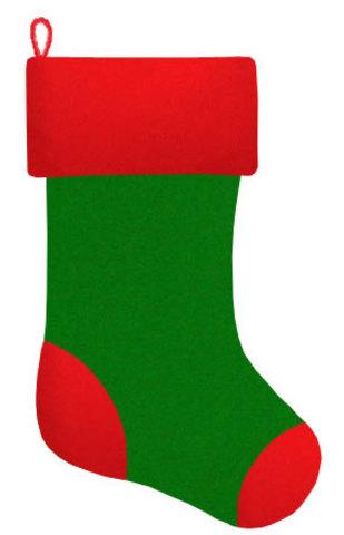 Рождественский чулок зелёный