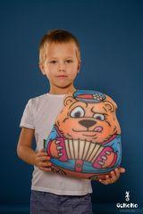 Подушка-игрушка антистресс Gekoko «Медведь-гармонист» 1