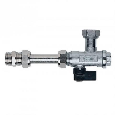 Запорный кран BAXI с фильтром на обратке системы отопления