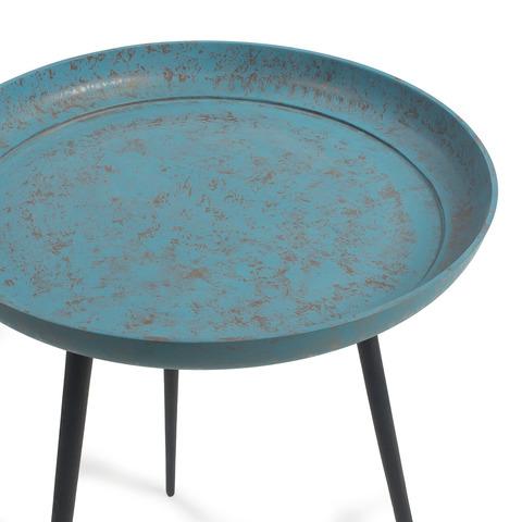 Круглый столик Sacke синий