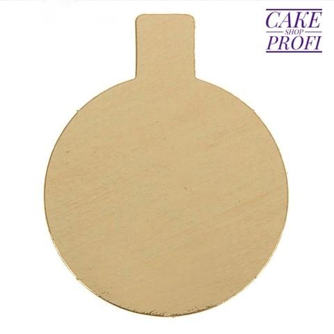 Сольерка для пирожного с держателем 8см (золото).