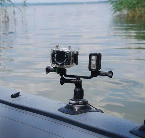 Держатель для экшн-камеры и навигационных огней Ng001, серый