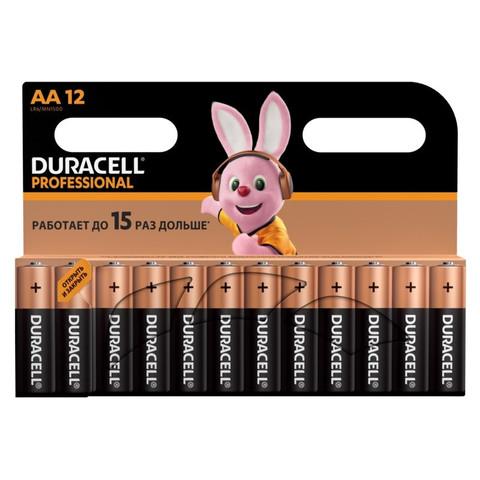 Батарейки Duracell Professional пальчиковые АА LR06 (12 штук в упаковке)