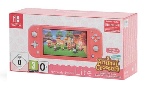 Игровая консоль Nintendo Switch Lite (кораллово-розовый, Animal Crossing New Horizon комплект + 3 мес. NSO)