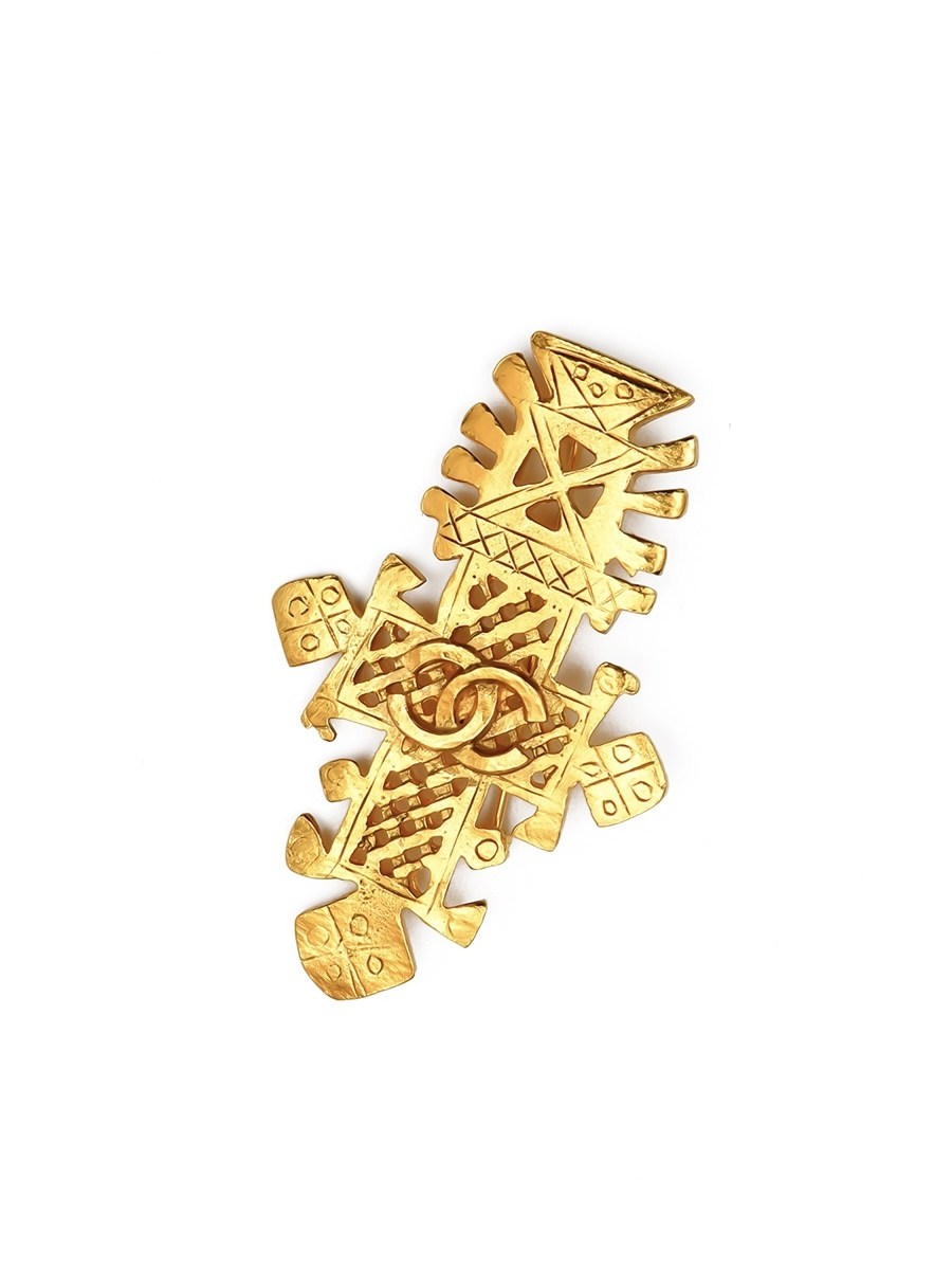 Винтажная брошь Chanel весенняя коллекция  1994 г.