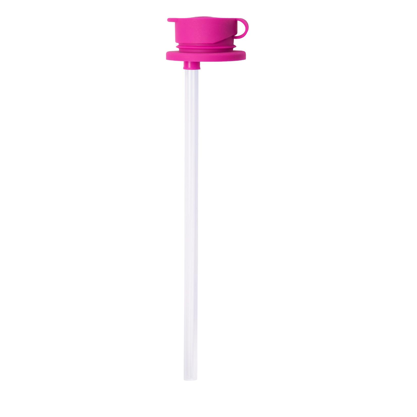 Силиконовая крышка c трубочкой для бутылочки Pura розовый