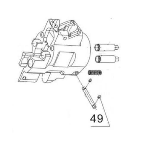 Фиксатор оси для монтажного пистолета ПЦ-84, GFT-5 (49)