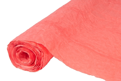 Бумага жатая эколюкс 70см х 5м красная 22