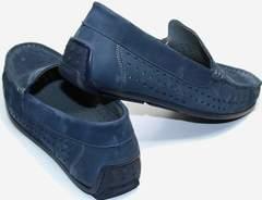 Мокасины мужские на лето стиль smart casual IKOC 1352-2 Blue.