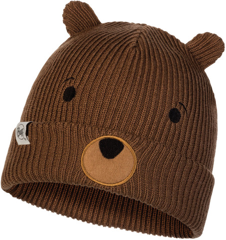 Вязаная шапка детская Buff Hat Knitted Funn Bear Fossil фото 1