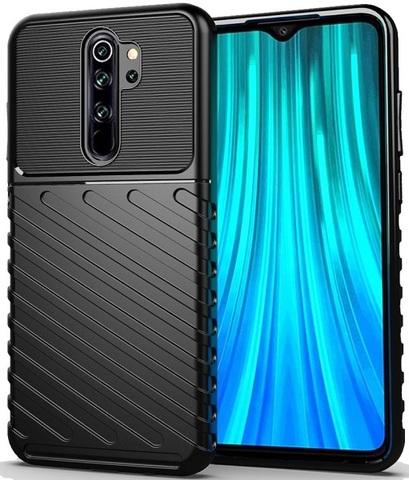Чехол Xiaomi Redmi Note 8 Pro цвет Black (черный), серия Onyx, Caseport