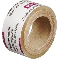 Скотч клейкая лента канцелярская Attache прозрачная 19 мм х 10 м