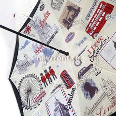 Зонт обратного сложения «Лондон» полуавтомат (открытие)