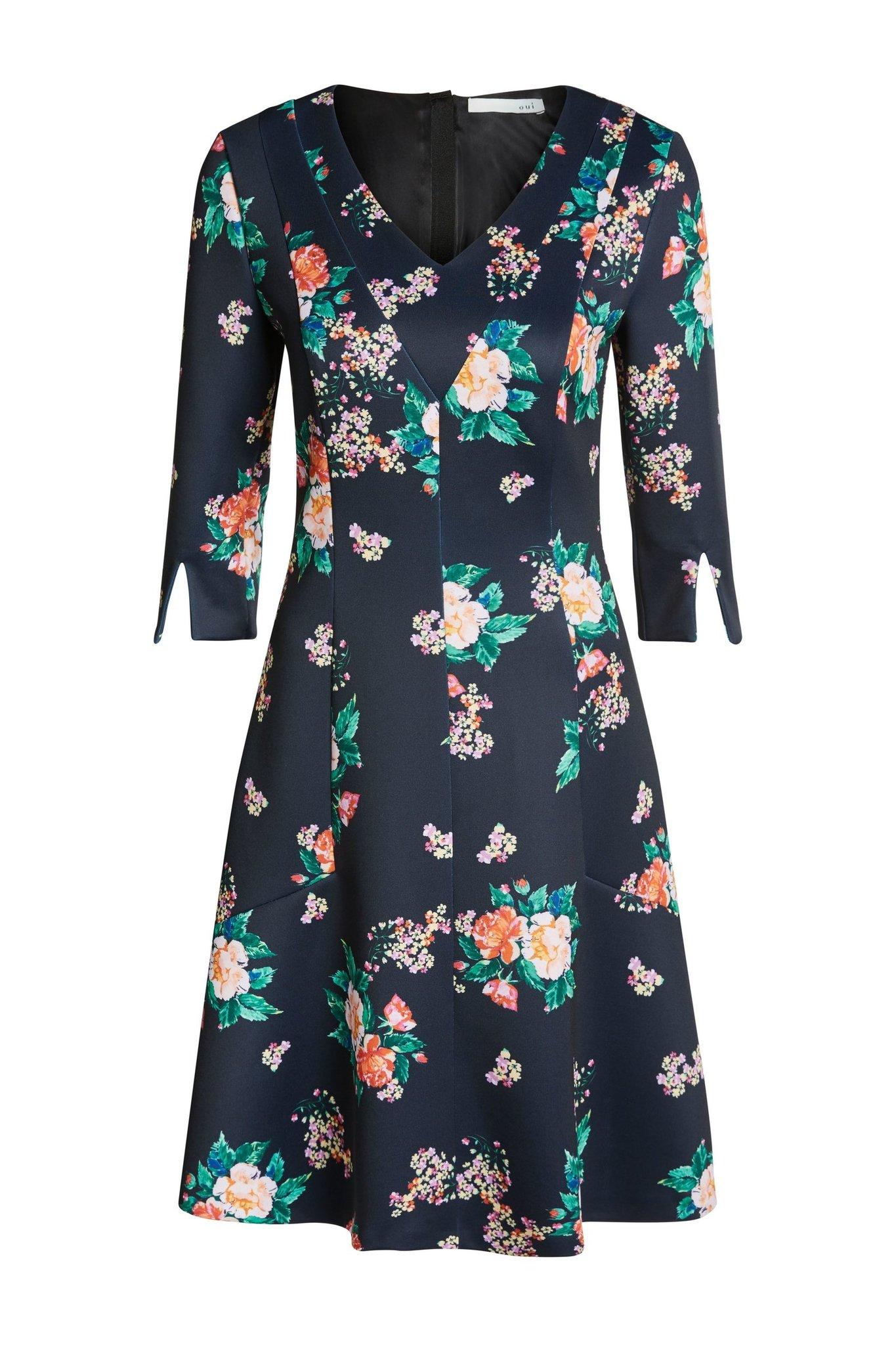 Oui Платье неопреновое в цветы
