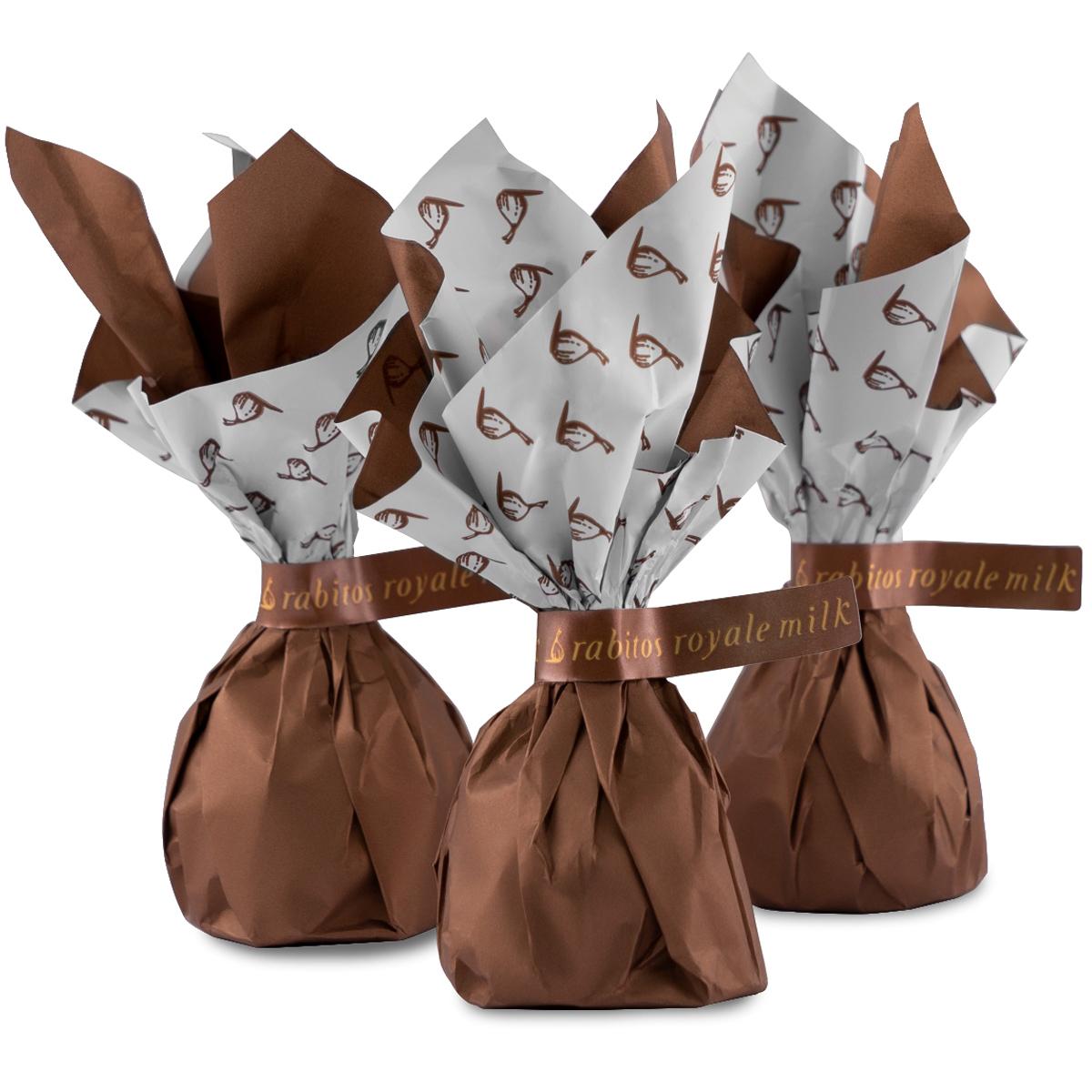 Конфеты Инжир в молочном шоколаде с начинкой из соленой карамели Rabitos 95 г  6 конфетт