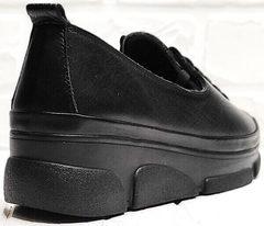 Закрытые туфли кроссовки на танкетке женские Mario Muzi 1350-20 Black.