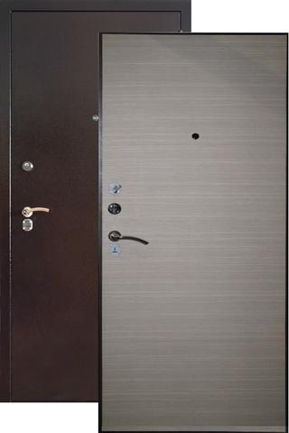 Дверь входная Капучино Капучино К2, 2 замка, 1,5 мм  металл, (антик капучино+капучино)