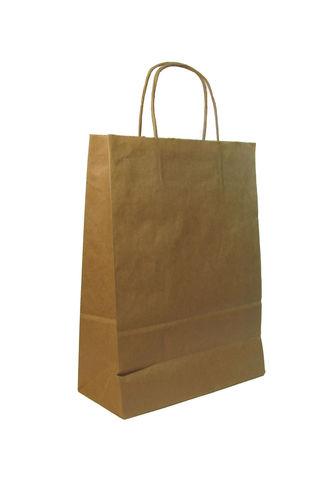 Пакеты бумажные крафт 350х150х450 мм с кручеными ручками 70